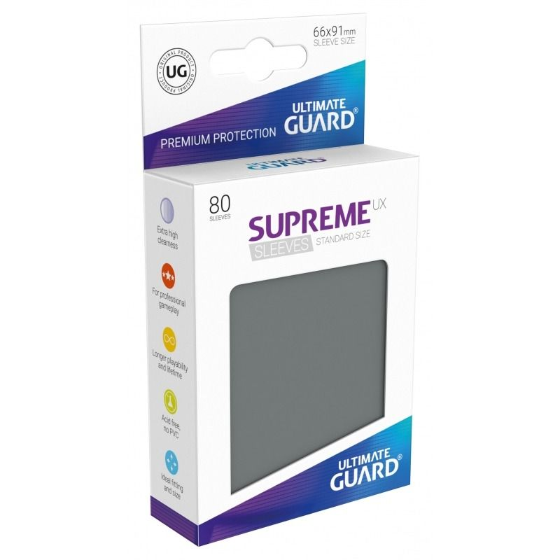 Fundas - Ultimate Guard - Supreme Standard Gris 80